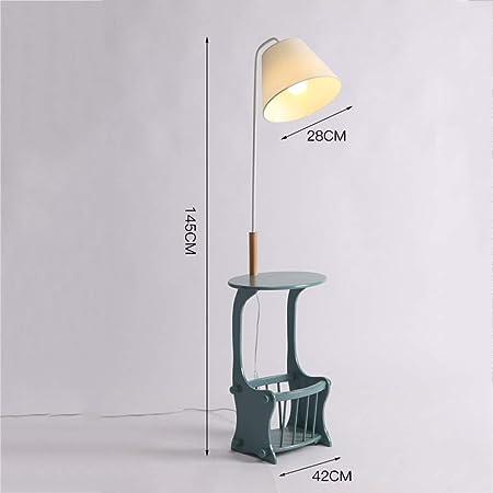 Lámparas de pie DD, Estante/Mesa Centro - Lámpara Mesita Noche - Sala Estar Mesa Pequeña/Iluminación Interior E27 (Color : Ejercito Verde): Amazon.es: Hogar