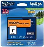 Brother International, Black on Fluorescent Orange 1'' (Catalog Category: Printers- Inkjet/Dot Matrix / Label Printer Access.)