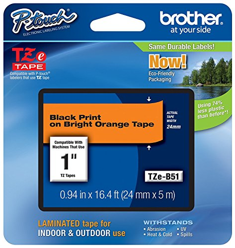 Brother International, Black on Fluorescent Orange 1'' (Catalog Category: Printers- Inkjet/Dot Matrix / Label Printer Access.) by Brother