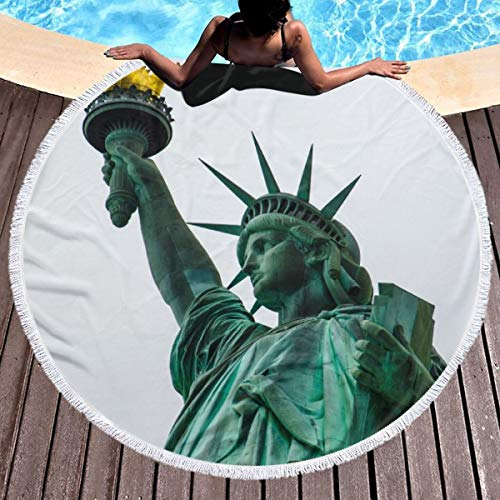 - Ailigrfel Microfiber Round Beach Towel Blanket, 60