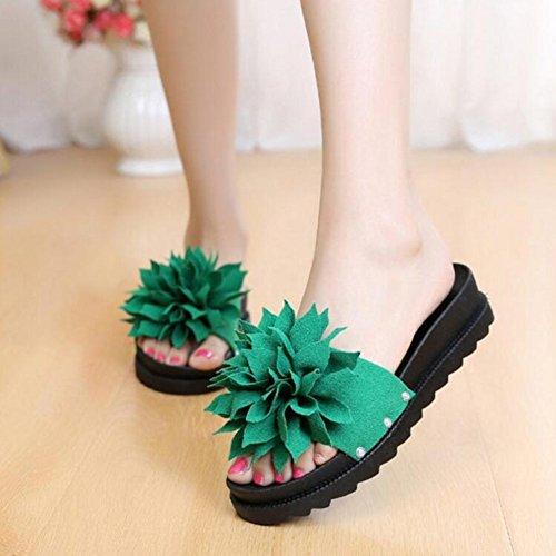 Sandali Pantofole dimensioni green Farfalla 37 Abbigliamento TINGTING Panno Ciabatte Pattini Il 4 Taglie Scarpe Esterno Colore GREEN Colori Disponibili Selvaggio Diamante B Parola Nodo 5 B rqptr