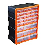 39 Multi Drawer Storage Cabinet Organiser TOPIND Plastic Parts Storage Wall Mount Hardware Storage Cabinet For Home Garage DIY Hobby Craft or Shed