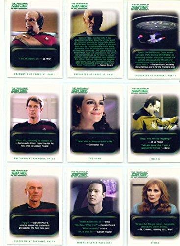 Rittenhouse The Quotable Star Trek The Next Generation Trading Card Base Set (Star Trek The Next Generation Trading Cards)