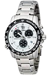 Timex Men's T42331 Expedition Premium Collection Chronograph Silver-Tone Stainless Steel Bracelet Watch