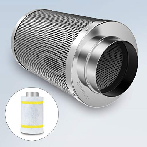4 Inch Air Carbon Filter with Reversible Flange Odor Control Activated...