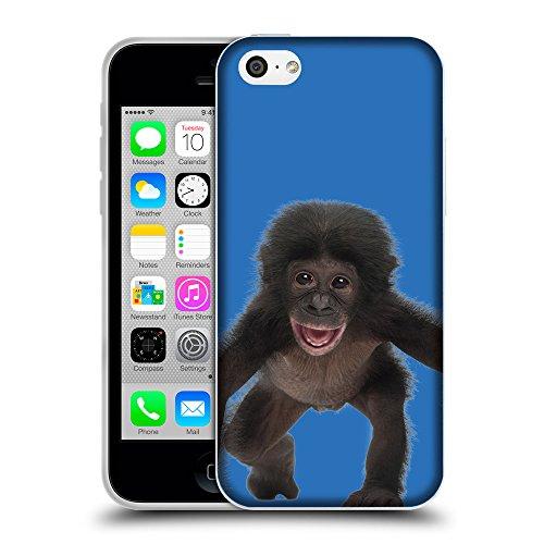 GoGoMobile Coque de Protection TPU Silicone Case pour // Q05570608 Bébé bonobo Azzurro // Apple iPhone 5C