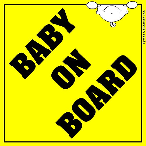 Large  Baby On Board  Car Magnet 6  X 6   Made In Usa