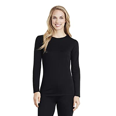 Cuddl Duds Women's Softwear with Stretch Long Sleeve Crew Neck Top at Women's Clothing store