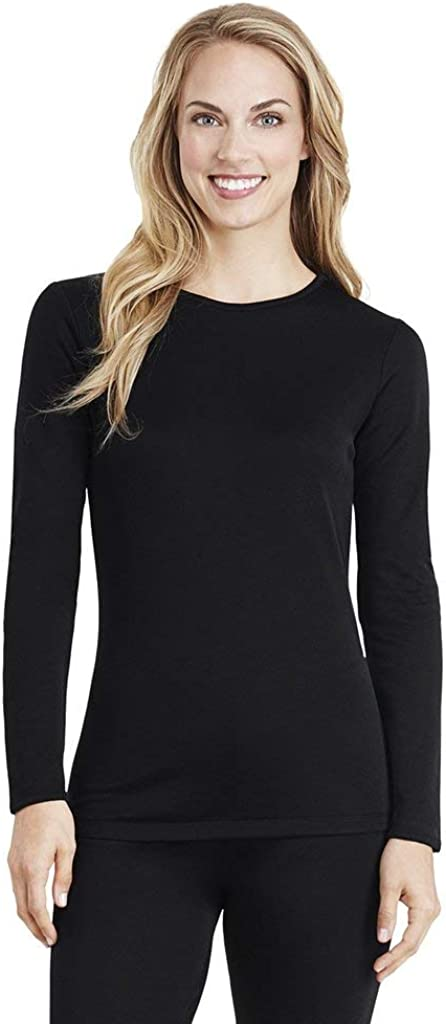Cuddl Duds Womens Softwear with Stretch Long Sleeve Crew Neck Top