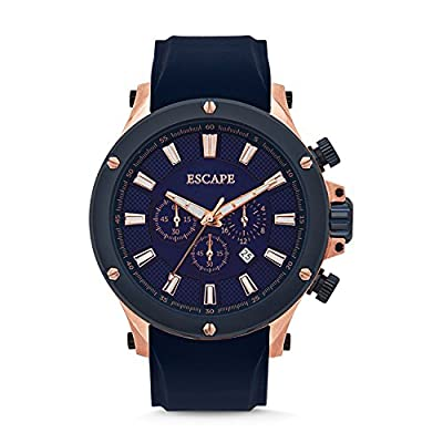 Mens Voyager Rose-Blue Sili Chrono Escape Watches