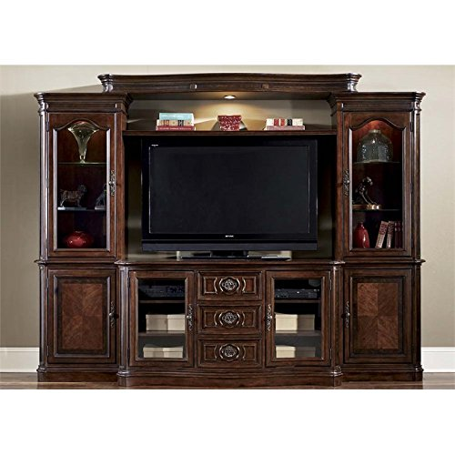 (Liberty Furniture Andalusia Entertainment Center with Piers in Cherry )