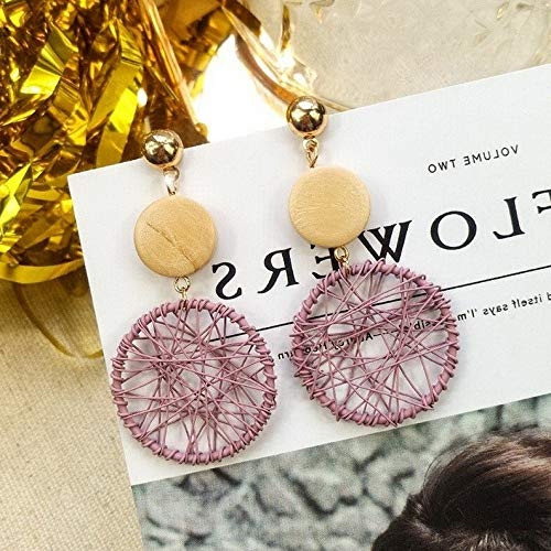 Crookston Fashion Women Flower Tassel Rhinestone Fur Ball Dangle Ear Stud Earrings Jewelry | Model ERRNGS - 15443 | -