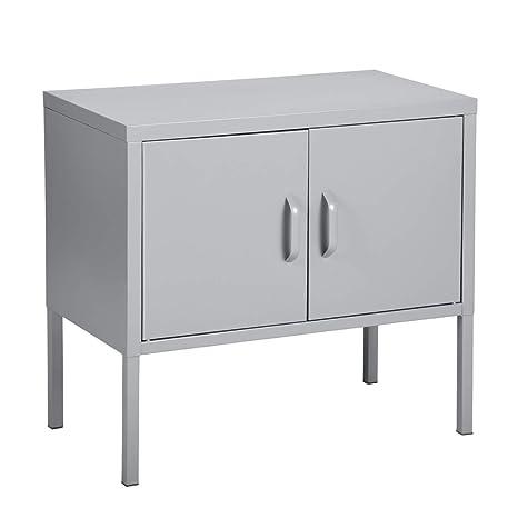 Amazon.com: HomyCasa - Mesa auxiliar de metal para sofá/sofá ...