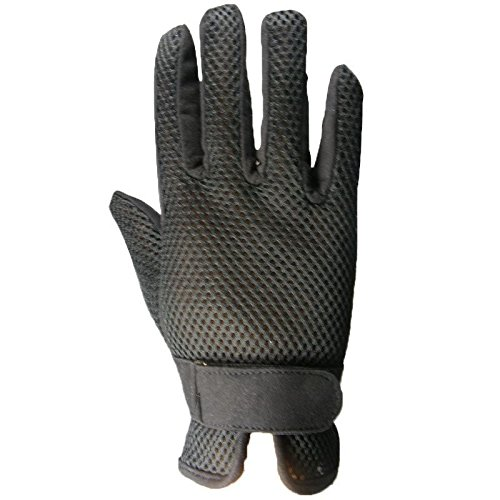 Adults Mesh Horse XL Synthetic Black Riding Size Gaiters Air Gloves amp; Half Brown Suede S amp; Chaps Black xFYqYdar