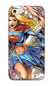 Flexible Tpu Back Case Cover For Iphone 5/5s - Supergirl