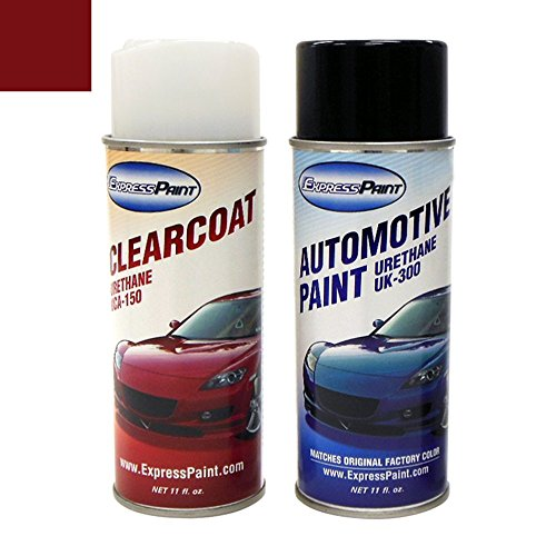 Di Barolo - ExpressPaint Aerosol Mercedes-Benz M-Class Automotive Touch-up Paint - Barolo Red Metallic Clearcoat 544/3544 - Color+Clearcoat Package