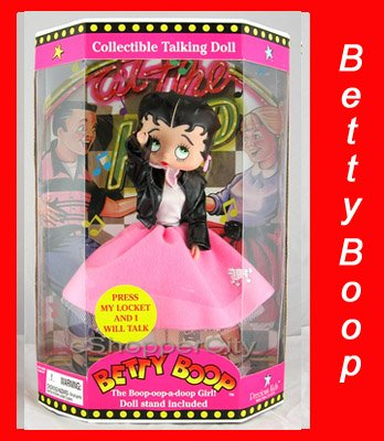 "Betty Boop 12"" Talking Collectible Doll with Fab 50"