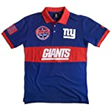 New York Giants Cotton/Poly Wordmark Rugby Short Sleeve Polo Shirt Extra Large