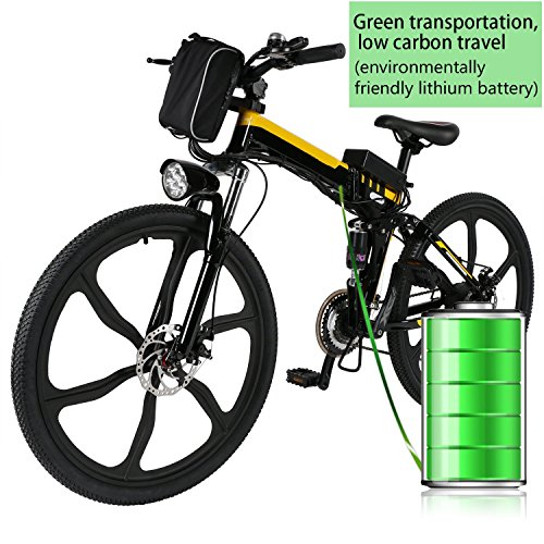 26″ Pro Folding Speed Electric Power Mountain Bicycle with Large Lithium-Ion Battery (US STOCK) (Yellow) Review