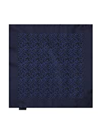EEHB0310 Dark Blue Black Patterned Microfiber Pocket Square Excellent For Urban Hanky By Epoint