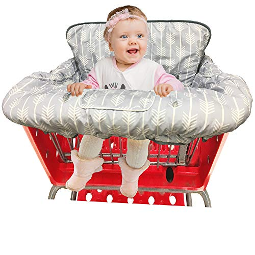 Shopping Cart Cover High Chair Cover for Baby and Toddler-Waterproof-Universal fit-Reversible Baby Cart Cover for Girls and Boys