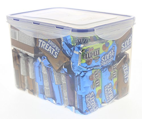 RICE KRISPIE TREATS VARIETY bulk in an EasyLock airtight, watertight, and stackable container (40 CT)