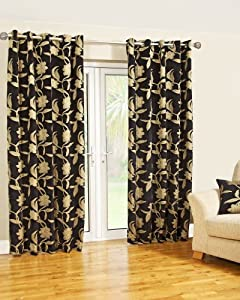 Scatterbox X Cm Geneva Curtains Black And Gold Amazon Co