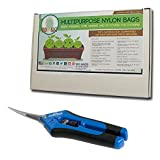 vapor buddy - Harvest Bundle - Buddy Bags Co Multi-Purpose Turkey Oven Bags for Home and Garden & Hydrofarm Precision Curved Blade Pruner