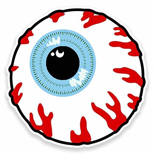 2 x 30cm/300mm Cartoon Eye Eyeball Vinyl Sticker Decal Laptop Car Travel Luggage Label Tag - Eyeball Decal