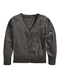 Khanomak Kids Girls V Neck Cardigan Sweater (Sizes 3T- 14 Yrs)