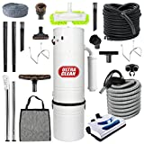 top quality canadian made central vacuum ultra clean unit 7500 sq ft 30 electric hose powerhead attachemnets garage kit  accessories