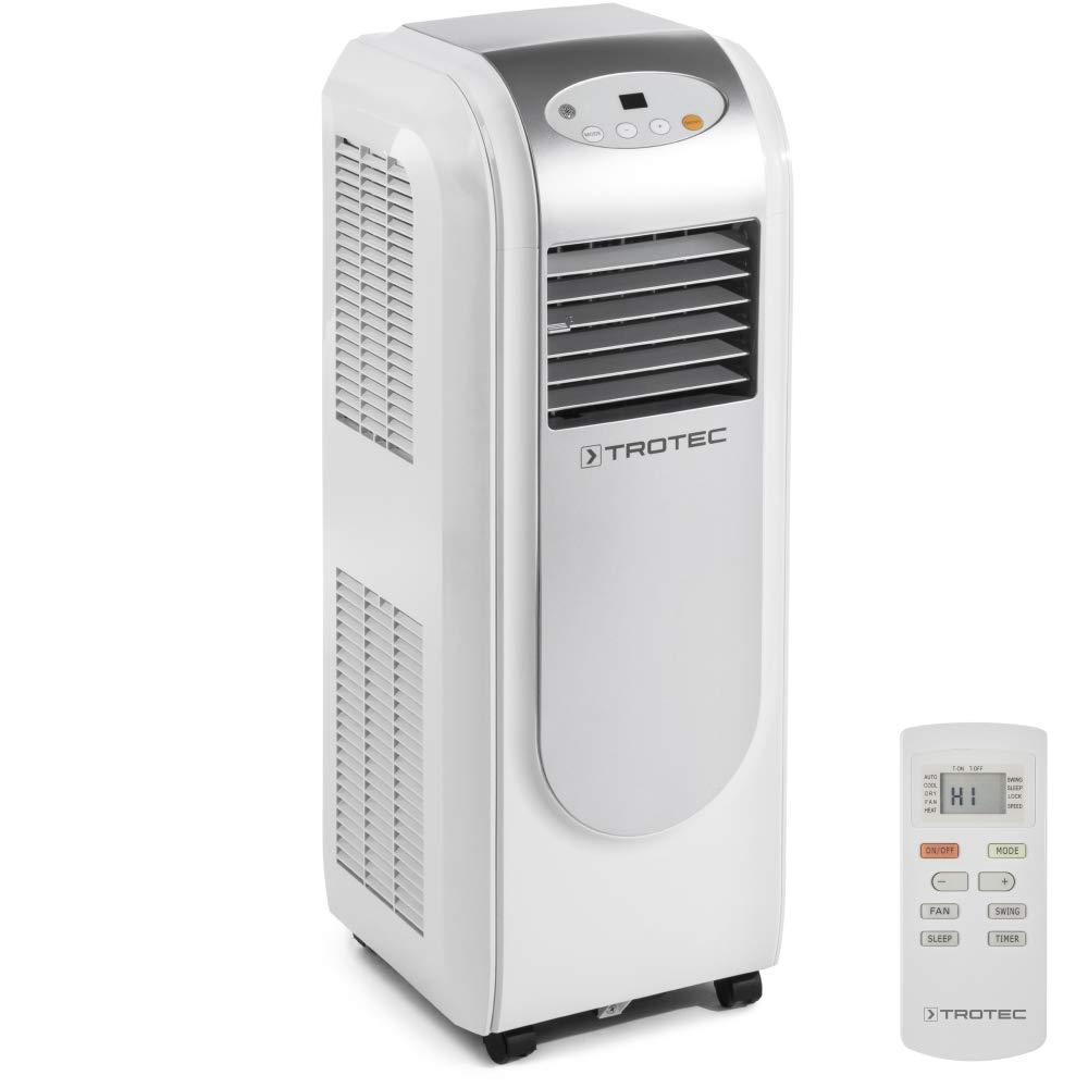 TROTEC mobiles Klimagerät Klimaanlage PAC 2000 E mit 2,1 kW / 7.200 Btu, EEK A (Timer, Entfeuchtungs- und Belüftungsfunktion, einstellbare Luftausblasrichtung, 3 Ventilationsstufen)