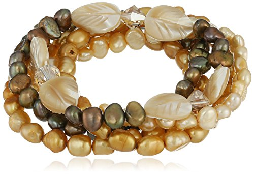 Champagne Freshwater Cultured Stretch Bracelet