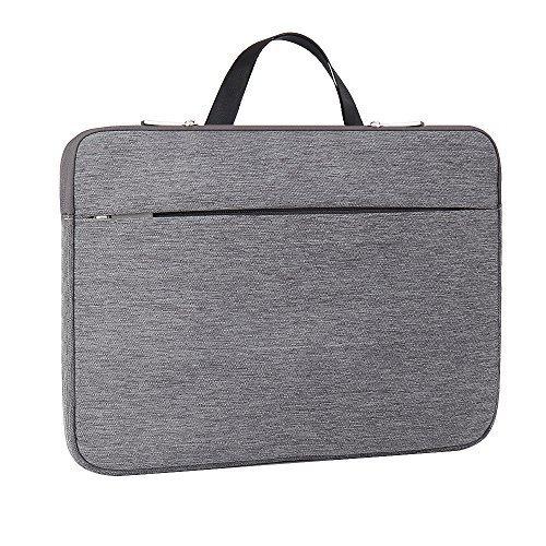 ATAILORBIRD Laptop Sleeve 13-13.3 Inch, Hidden Handle Shockproof Water-Resistant Carrying Case Compatible with Lenovo Chromebook, Ultrabook, Tablet - Dark Gray
