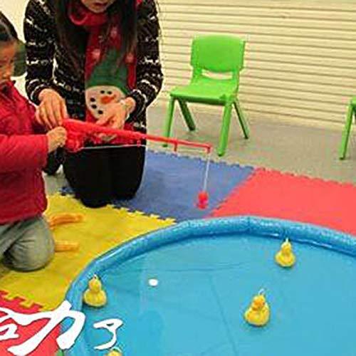 Konglyle Pato Juego Pesca Estanque Piscina con 5 Patitos Set Ni/ños Educativo Preescolar Juguete