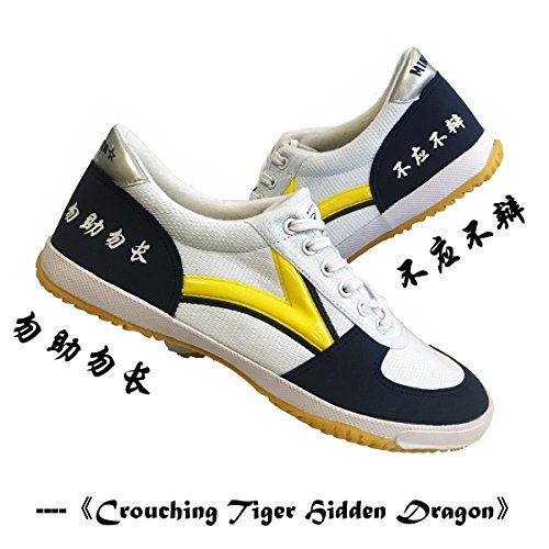 DOUBLESTAR MR Rubber Sole Lightweight Breathable Traditional Martial Arts Parkour Kung Fu Tai Chi Jogging Training Yoga Driving Walking Shoes for Men/Women/Children Stylish Sneaker