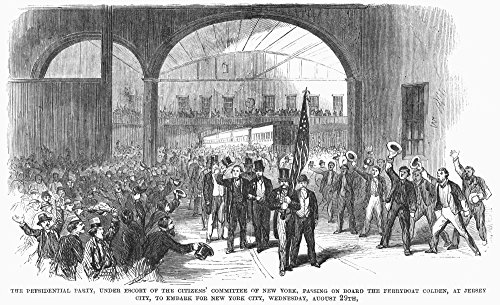 Andrew Johnson (1808-1875) N17Th President Of The United States The Presidential Party At The Ferry Terminal In Jersey City On Their Way To A Reception For Johnson In New York City 29 August 1866 Post -