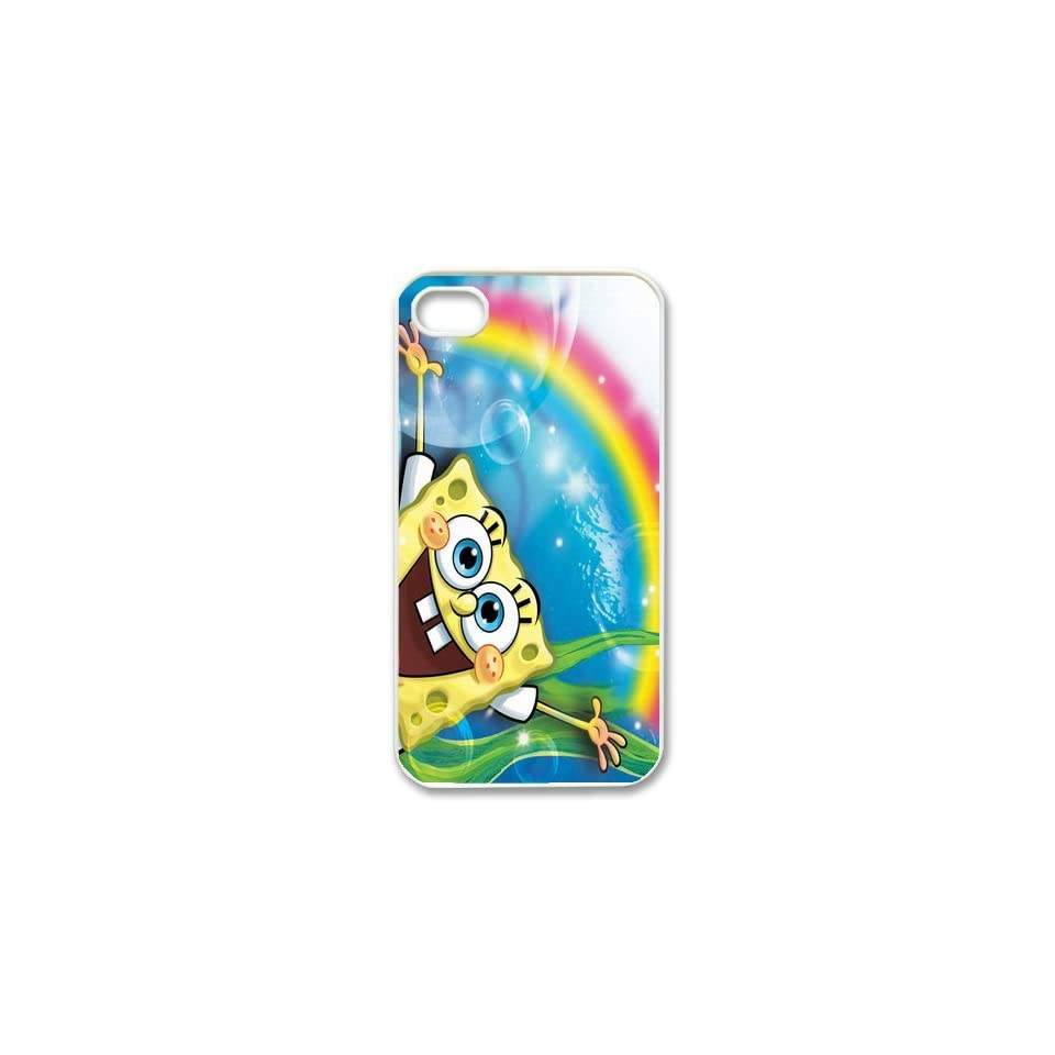 Personalized Cartoon SpongeBob SquarePants Protective Snap on Cover Case for iPhone 4/4S SS189