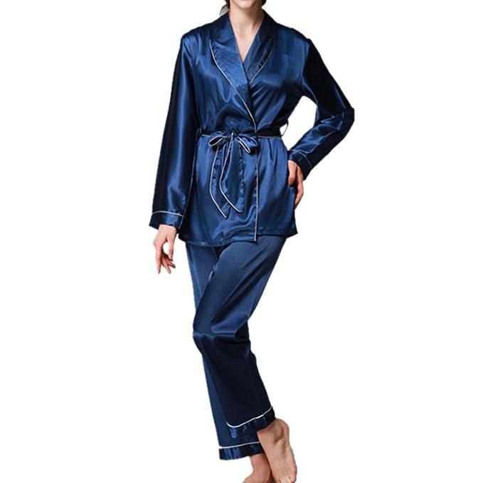 Honghu Pijama para Mujer,Juego de Pijamas de Tres Piezas de Chaqueta de Ligueros Imprimir