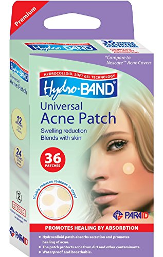 Medicated Acne Package - Acne Patch | Hydrocolloid Patches for Pimples and Acne | Promotes Faster Healing and Clear Skin | Hydro-Band - Box of 36