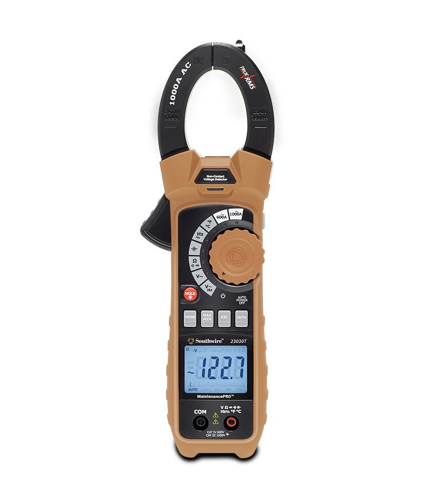 Southwire Tools & Equipment 23030T MaintenancePRO 1000A TrueRMS AC Clamp Meter, Multimeter with 10 Measuring Functions