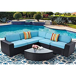 51i7SjcNMhL._SS300_ 100+ Black Wicker Patio Furniture Sets For 2020
