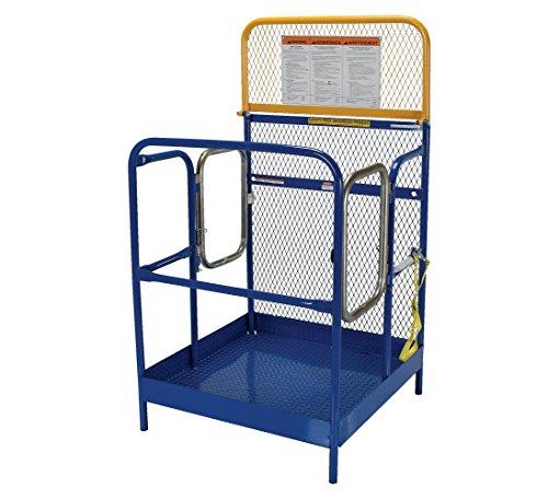 Vestil WP-3636-DD Steel Work Platform, 1000 lb Capacity, 36'' x 36'' with Double Doors, Powder Coat Blue, not for use in California by Vestil (Image #1)