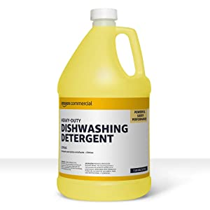 AmazonCommercial Heavy-Duty Dishwashing Detergent, Citrus, 1-Gallon, 4-Pack