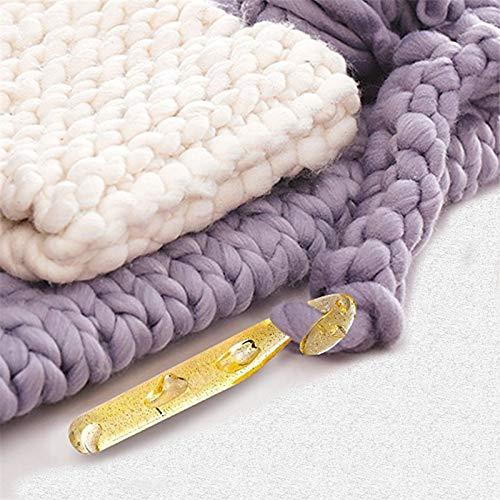 Huge Crochet Hook Set and 9 Pieces Large-Eye Blunt NeedlesYarn Crochet Hooks ...