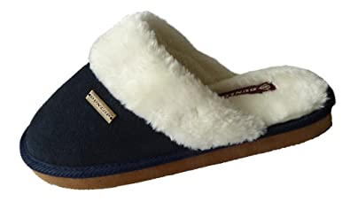 023b59526 Dunlop Ladies Real Suede Mule Slippers: Amazon.co.uk: Shoes & Bags