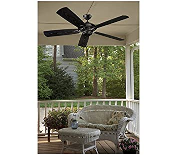 Monte Carlo 5CY60BK Cyclone, Outdoor Ceiling Fan, 60 Span, Matte Black