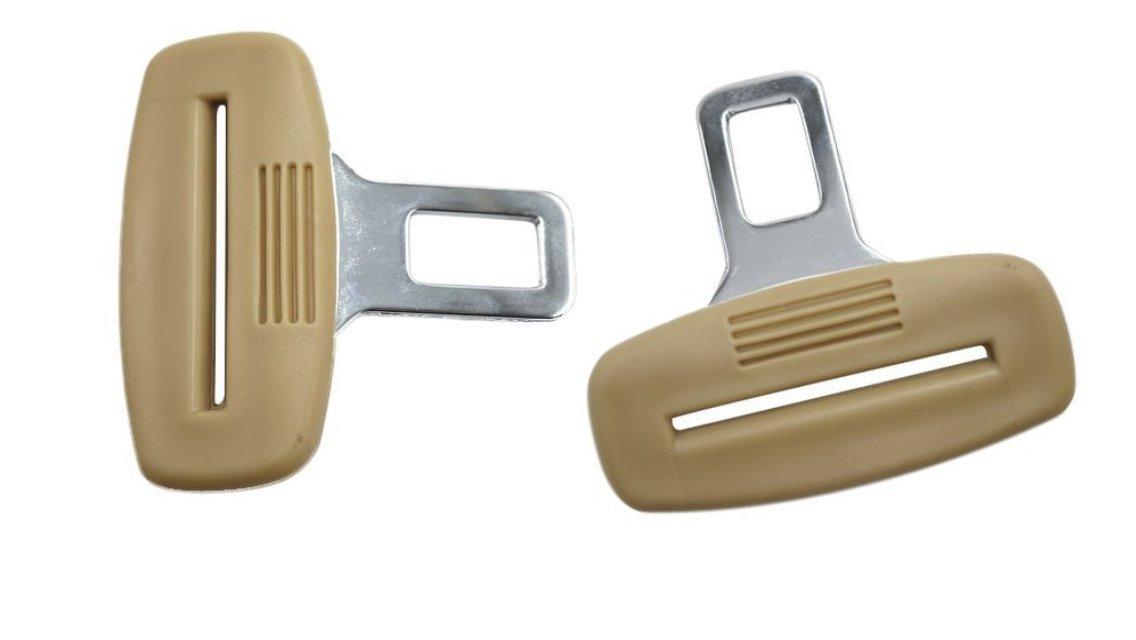 Pentaton - Coppia di Ganci Beige per Auto Disattiva Allarme Sonoro delle Cinture di Sicurezza del Sedile Car-Parts