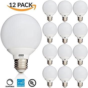 TCP Decorative Globe Vanity Light Bulbs, Round, G25, E26 Base, 40W ...