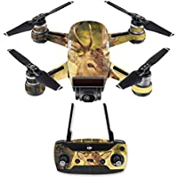 Skin for DJI Spark Mini Drone Combo - Deer Camo| MightySkins Protective, Durable, and Unique Vinyl Decal wrap cover | Easy To Apply, Remove, and Change Styles | Made in the USA